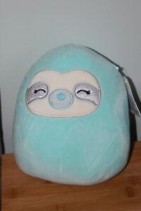 "BNWT SQUISHMALLOWS Kellytoy - 7"" Aqua The Sloth! New!"