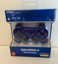 Sony PlayStation 3 PS3 DualShock3 Wireless Controller Metallic Blue -Red Box NIB