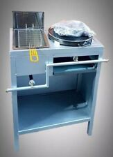 Comertial Grade Natural Gas Single Crepe and Fryers Vintage Machine with table
