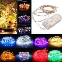 Neu LED Lichterkette Drahtlichterkette Leuchtdraht Deko Micro Draht 20/30/40-DE