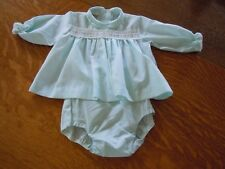Vintage Fawn Togs Baby Dress W/Plastic Rubberized Pants Excellent Cond