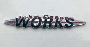 Mini JCW John Cooper Works MINI R50 R52 R53 S Rear Boot Badge Gen 1 2001 - 2006