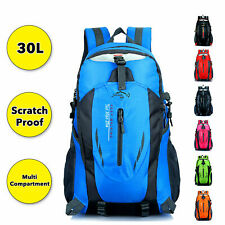 Waterproof Hiking Camping Bag 30L Large Travel Backpack Outdoor Luggage Rucksack