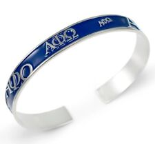 Alpha Phi Omega Bangle with raised letters and blue enamel APO NEW!