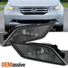 2011 2012 2013 Honda Odyssey Bumper Smoked Fog Lights Lamp Left & Right W/Switch
