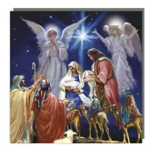 5 Traditional Nativity Christmas Cards – Supporting Marie Curie Charity Cards