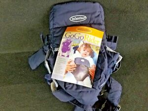 Infantino Go Go Rider Carrier In Navy Baby Blue Plaid Color