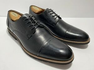 Stacy Adams Men's 13 M Black Leather Cap Toe Oxfords Shoes MEMORY FOAM NEW!