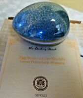 Beautiful Gerold Danbury Mint Decorative Pocrelain Hand Painted Egg Box IOB