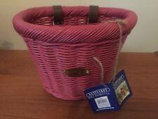 Nantucket Bike Basket Co. Gull & Buoy Child D-Shape Basket - Pink