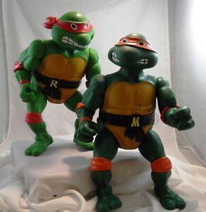 Michaelangelo & Rafael 1989 Playmates Large Teenage Mutant Ninja Turtles