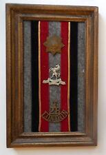 WW II British Coldstream Guards, West Kent, Artist Rifles Mounted Badges Lot