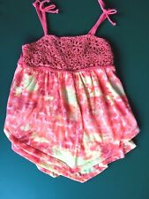 Girls Justice Spagetti Strap Tiered Orange/Yellow Top  - Size 8