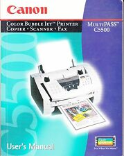 Canon MultiPASS C5500--User's Manual & Quick Start Guide--Excellent