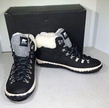 Sorel Out N About Plus Conquest Women's Sz 10 Black Ankle Winter Boots X1-733