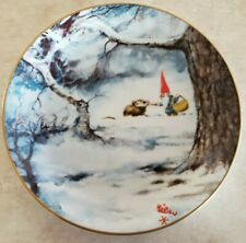 Legends Of The Gnomes Collector Plate Winter Sharing By Rien Poortvliet