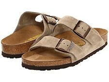 New Birkenstock Women's and Men's unisex Arizona Sandal Suede TAUPE Shoes *NIB*
