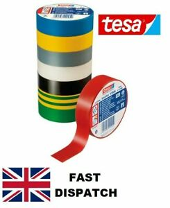 19MM x 25M Tesa Electrical PVC Insulation Tape Cable 6 COLOURS FREE DELIVERY