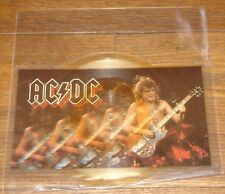 """AC/DC NERVOUS UK SHAPED 7"""" PICTURE DISC 1984 W/ ORIGINAL STICKERED PVC SLEEVE"""