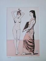 MILO MANARA PICASSO 1906 La Toilette Incisione all'acquatinta acquaforte etching