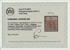 L-V 1850 15C, ZIEGELROT! Dr.Ferch:120,-€! HANDSCHRIFTLICHER ÜBERSCHREIBUNG VÖB!