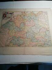 Um 1700. The Empire of Germany. Kol. Kupferkarte von Christopher Martin.