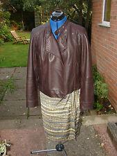 monsoon size 12 dark brown butter soft leather biker jacket