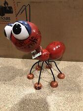 Large Red Metal Art Big Bobble Head Ant Sculpture Whimsical Spring