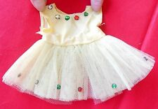 "Vintage Yellow Ballerina Tutu With Multi-Colored Rhinestones Fits 8–10"" Doll"