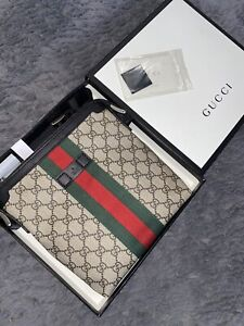 Gucci GG Webstrip Flat Messenger Pouch Bag Small Brand New Boxed