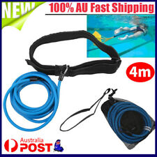 4M Swimming Trainer Belt Harness Swim Pool Resistant Bungee Rope Exercise Leash