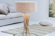 LAMPE DE TABLE MODERNE ARTISTIQUE UNIQUE bois flotté TOILE fait à la main