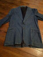 Vtg 70s LEVIS Panatela Denim LEISURE SUIT Mens Jacket 34r Pants 38x30 Mp24x2