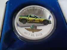 2008 Indianapolis 500 Event & Chevrolet Corvette Pace Car Silver Collector Coin