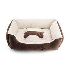 Large Luxury Washable Pet Dog Mattress Puppy Cat Bed Cushion Soft Mat Warm Brown L