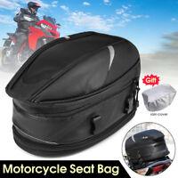 Motorcycle Tail Luggage Rear Pillion Tank Bag Waterproof Saddlebag Expandable ↑