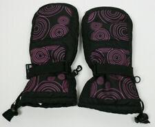 Girls Winter Snow Mittens Black Purple Kids Sz 8 10 Thinsulate 40 gm Waterproof