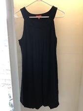 Elle Women's Size Large  Black Lined Sleeveless Dress with Bubble Hem