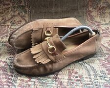 Gucci Suede Horsebit Mens Loafers Size Uk 9.5 USA 10.5