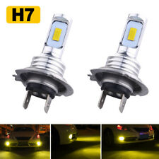 H7 Led Headlight Bulbs Kit Hi Low Beam 70W 8000Lm Super Bright 3000K Yellow 2020