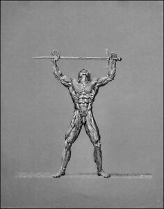 "nude/ drawing male/charcoal/original/""Swordsman VI"" by Earle Jay Goodman"