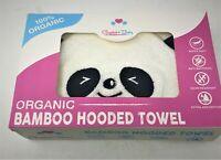 Hooded Baby Towel 100% Organic Bamboo- Panda