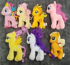 "7 MLP My Little Pony 7"" Plush Stuffed Lot Pinkie Pie Fluttershy AppleJack Rarity"