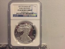 2012 W PROOF SILVER EAGLE NGC PF 69 ULTRA CAMEO