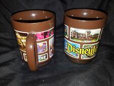 Lot of 2 vintage plastic Disneyland coffee mugs Thermo Serv