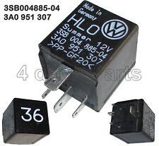3A0951307 Audi VW Warning Buzzer Relay Black-36 4-Pin HLO Summer 3SB00488504