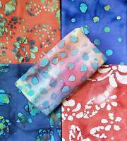 Batik Fat Quarter #40 | Face Mask Fabric | Precut Quilting Cotton | Set of 5