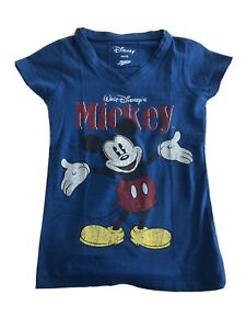 Womens Disney Mickey Mouse T Shirt XS