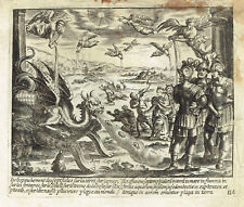 SETTE ANGELI CASTIGHI Seven Angels Punishment- Acquaforte Originale Jollain 1680