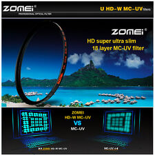 ZOMEI 72mm HD Pro 18 layer HMC Slim MC UV  Filter Shott Glass For Hoya canon NEW